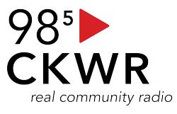 CKWR 98.5 FM logo, home of KW Magazine