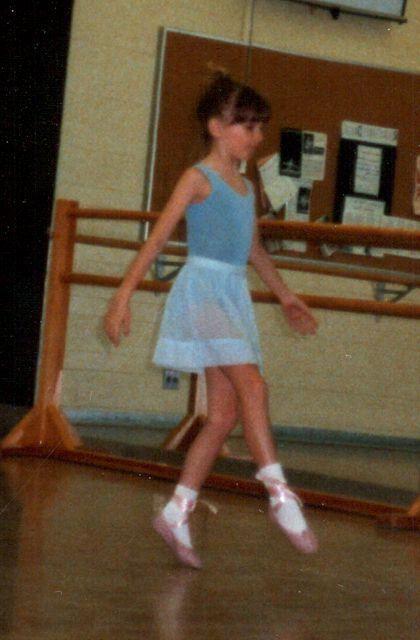 Lori Wolf-Heffner pratising for Grade 2 or 3 ballet exam